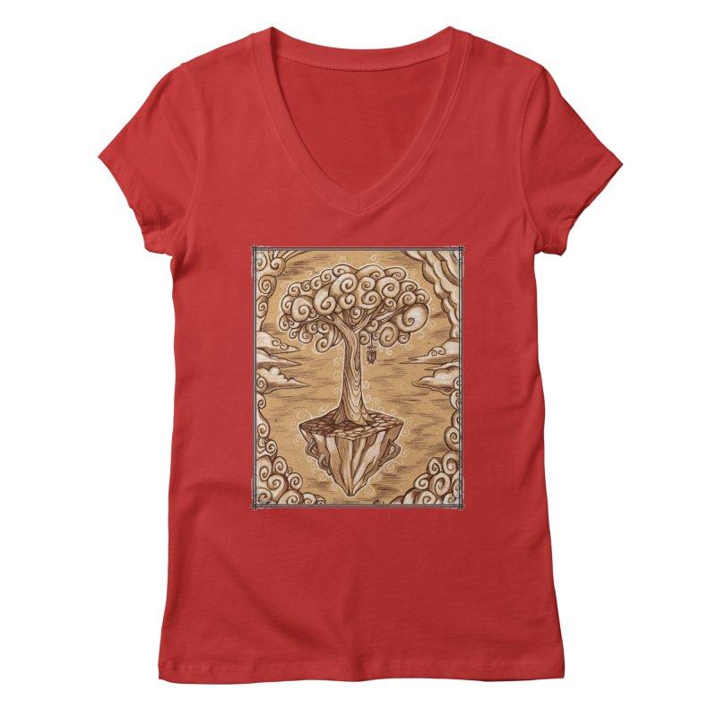 Air Tree Women's Regular V-Neck by Ben Mirabelli
