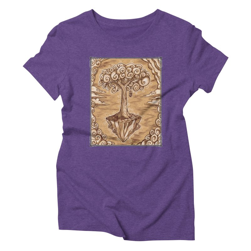 Air Tree Women's Triblend T-Shirt by Ben Mirabelli