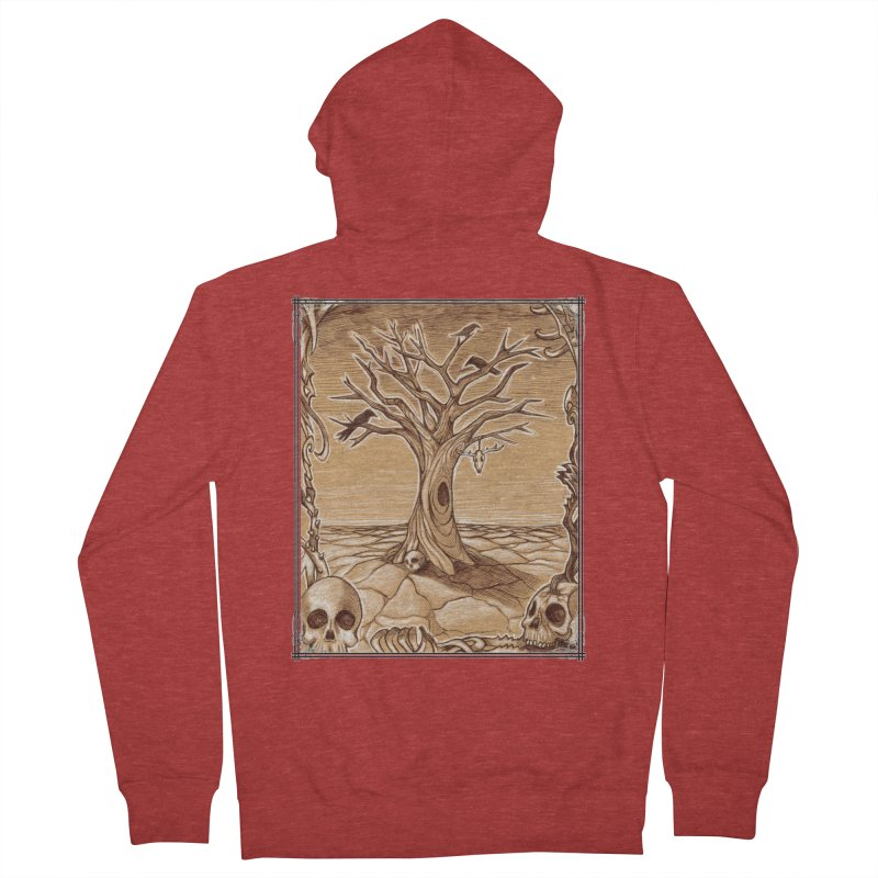 Elemental Tree of Death Men's French Terry Zip-Up Hoody by Ben Mirabelli