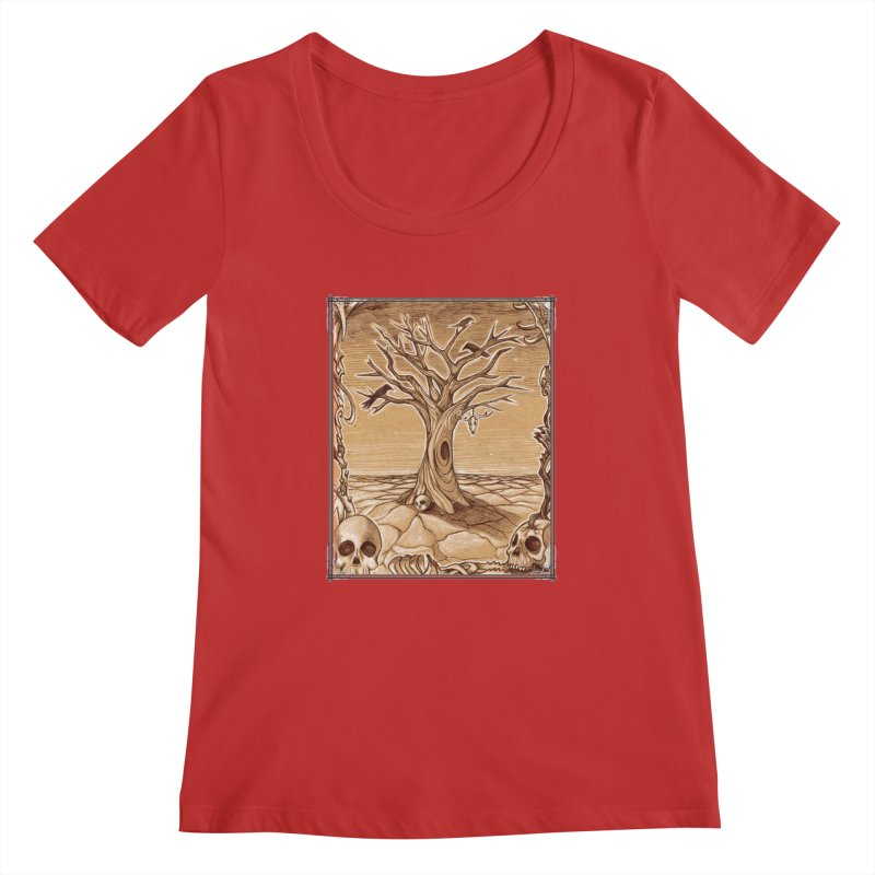 Elemental Tree of Death Women's Regular Scoop Neck by Ben Mirabelli