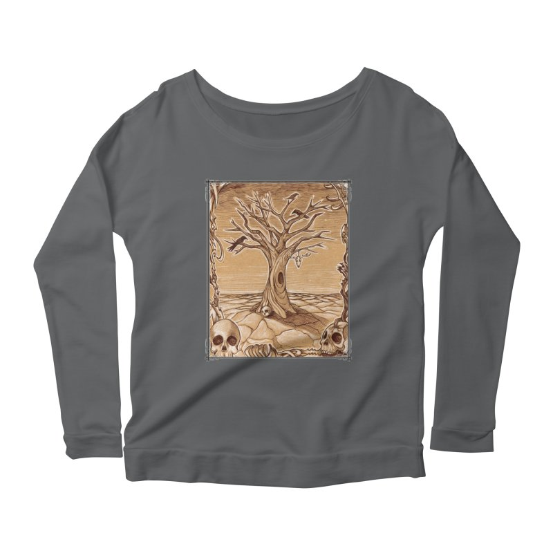 Elemental Tree of Death Women's Scoop Neck Longsleeve T-Shirt by Ben Mirabelli