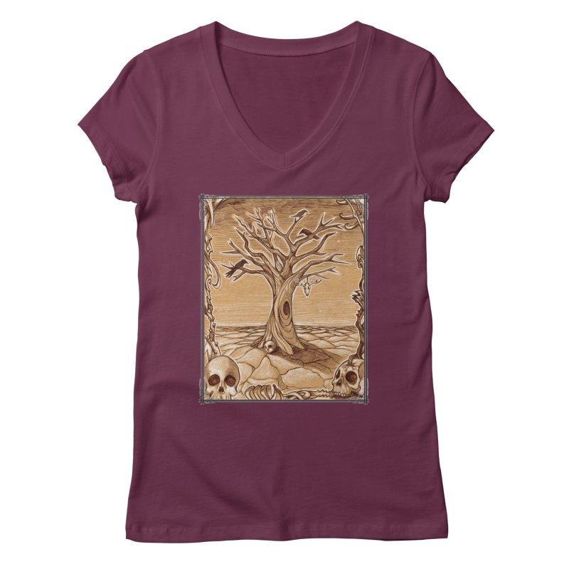 Elemental Tree of Death Women's Regular V-Neck by Ben Mirabelli