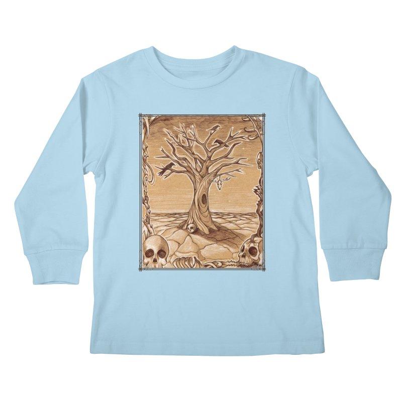 Elemental Tree of Death Kids Longsleeve T-Shirt by Ben Mirabelli