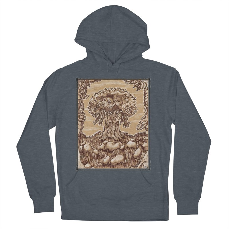 Earth Tree Men's French Terry Pullover Hoody by Ben Mirabelli