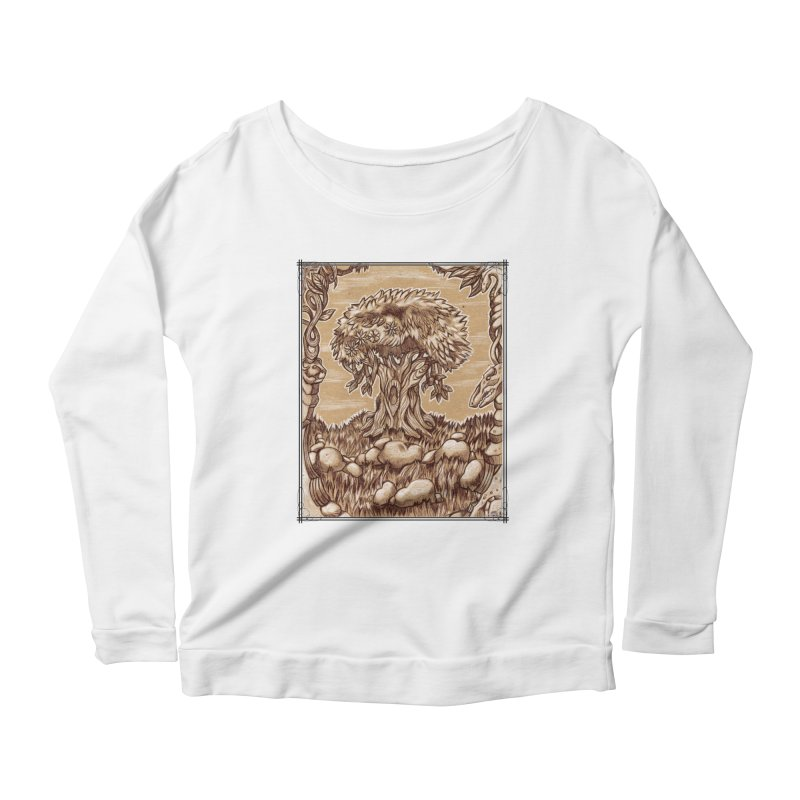 Earth Tree Women's Scoop Neck Longsleeve T-Shirt by Ben Mirabelli