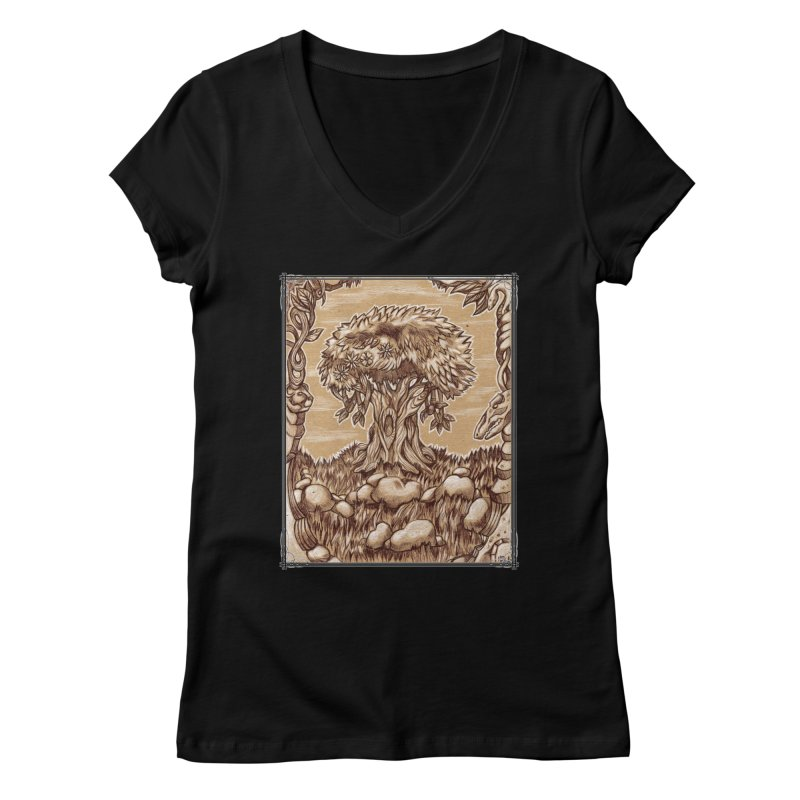 Earth Tree Women's Regular V-Neck by Ben Mirabelli
