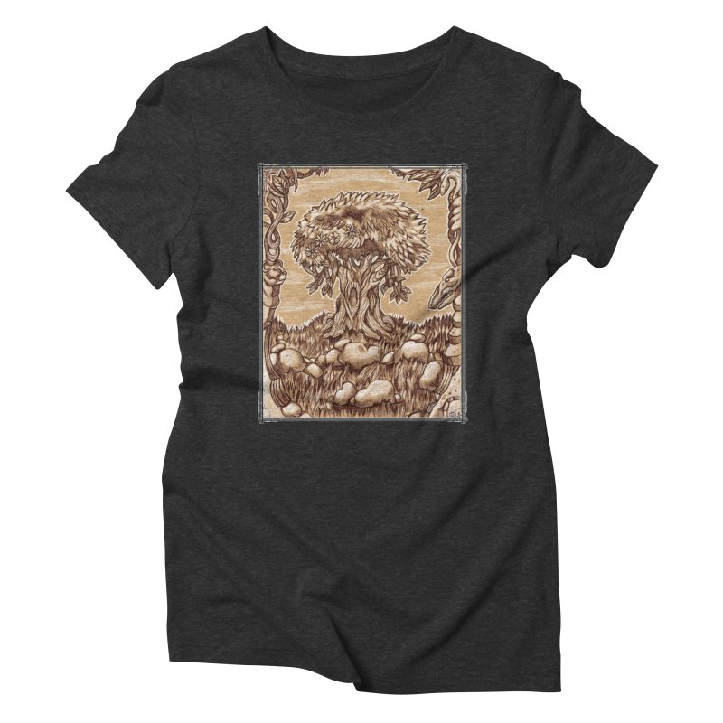 Earth Tree Women's Triblend T-Shirt by Ben Mirabelli
