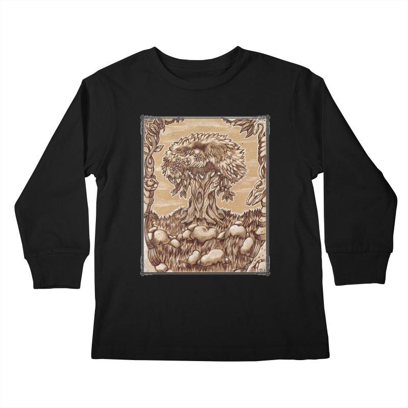 Earth Tree Kids Longsleeve T-Shirt by Ben Mirabelli