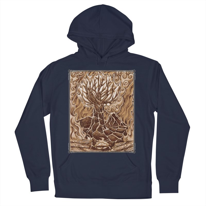 Fire Tree Women's French Terry Pullover Hoody by Ben Mirabelli