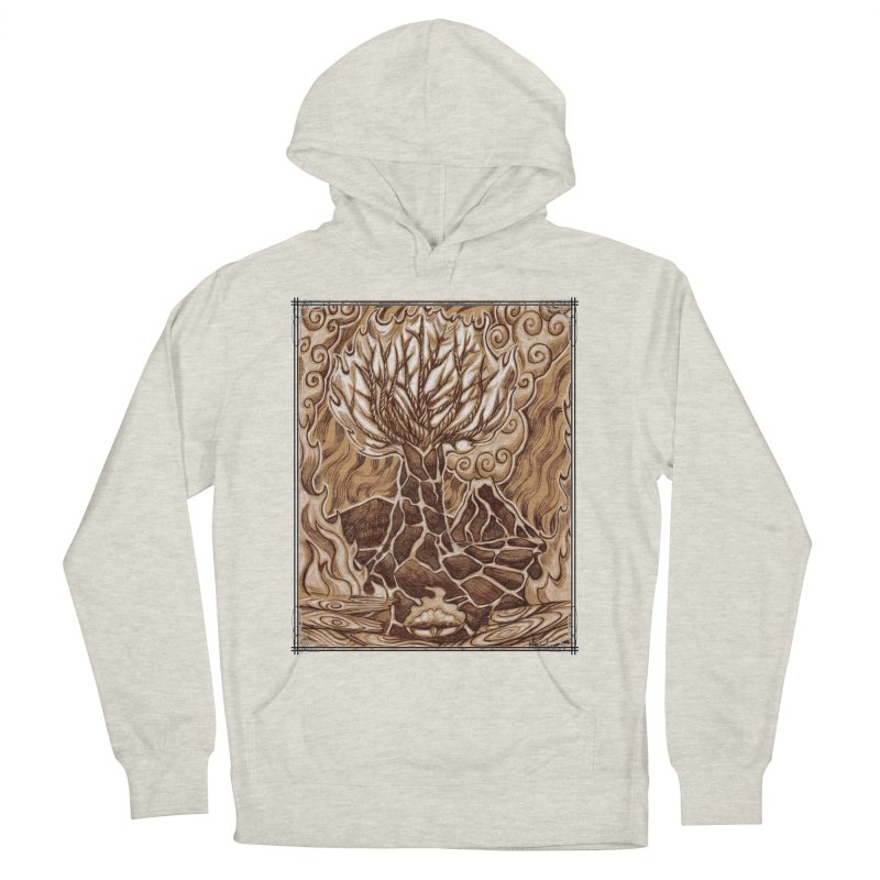 Fire Tree Men's French Terry Pullover Hoody by Ben Mirabelli