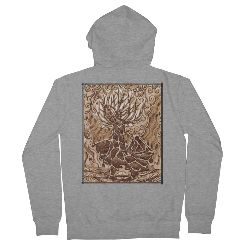 Fire Tree Men's French Terry Zip-Up Hoody by Ben Mirabelli