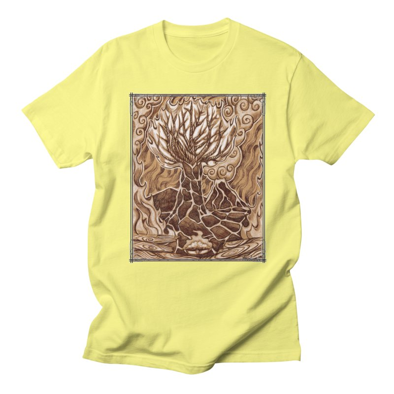 Fire Tree Men's Regular T-Shirt by Ben Mirabelli
