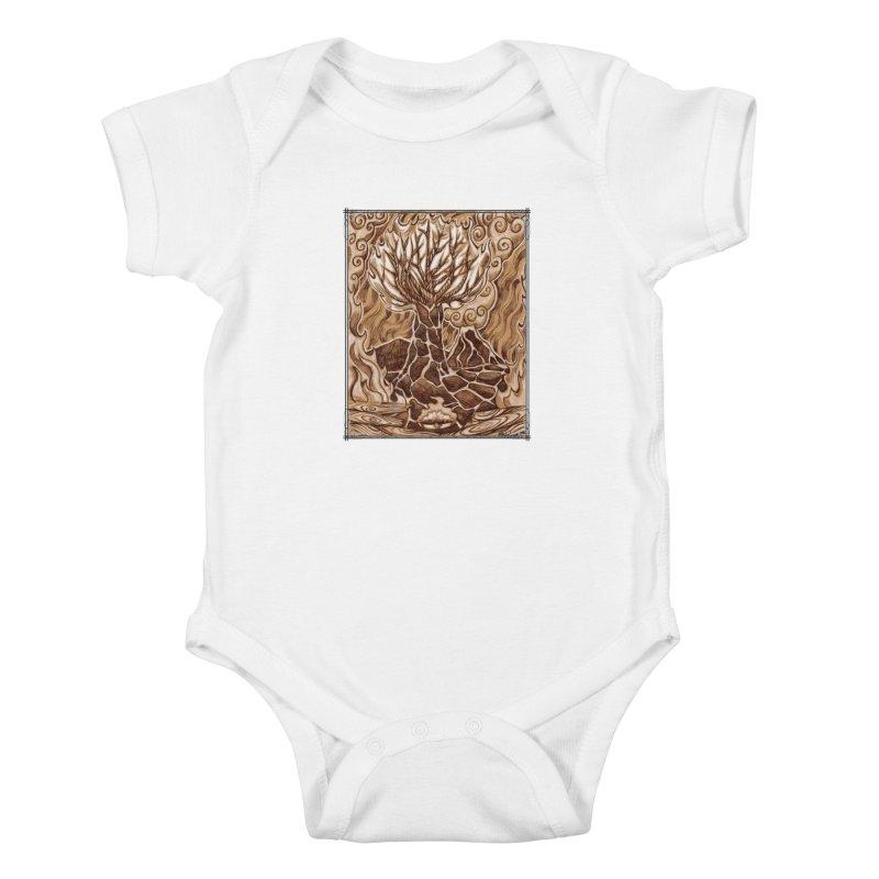 Fire Tree Kids Baby Bodysuit by Ben Mirabelli
