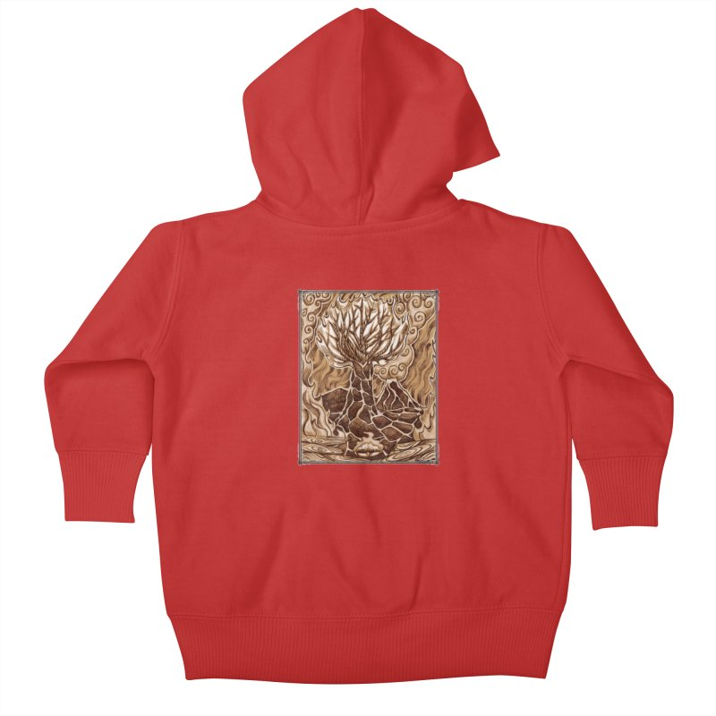 Fire Tree Kids Baby Zip-Up Hoody by Ben Mirabelli