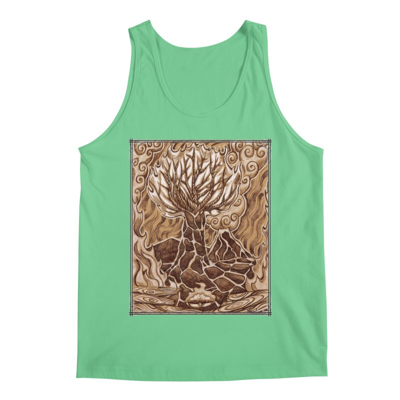 Fire Tree Men's Regular Tank by Ben Mirabelli