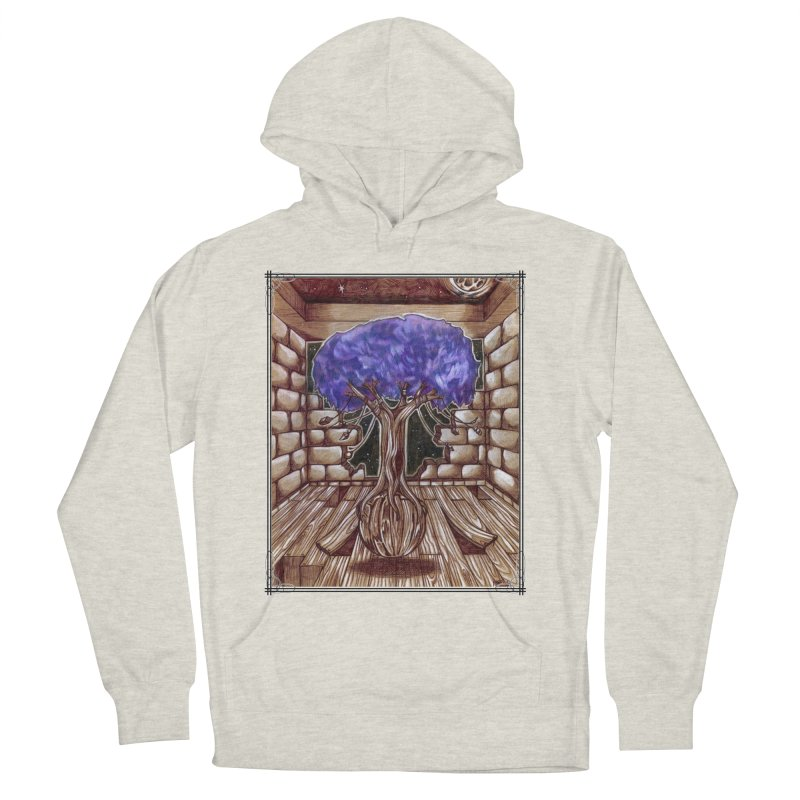 Purple Tree Men's French Terry Pullover Hoody by Ben Mirabelli