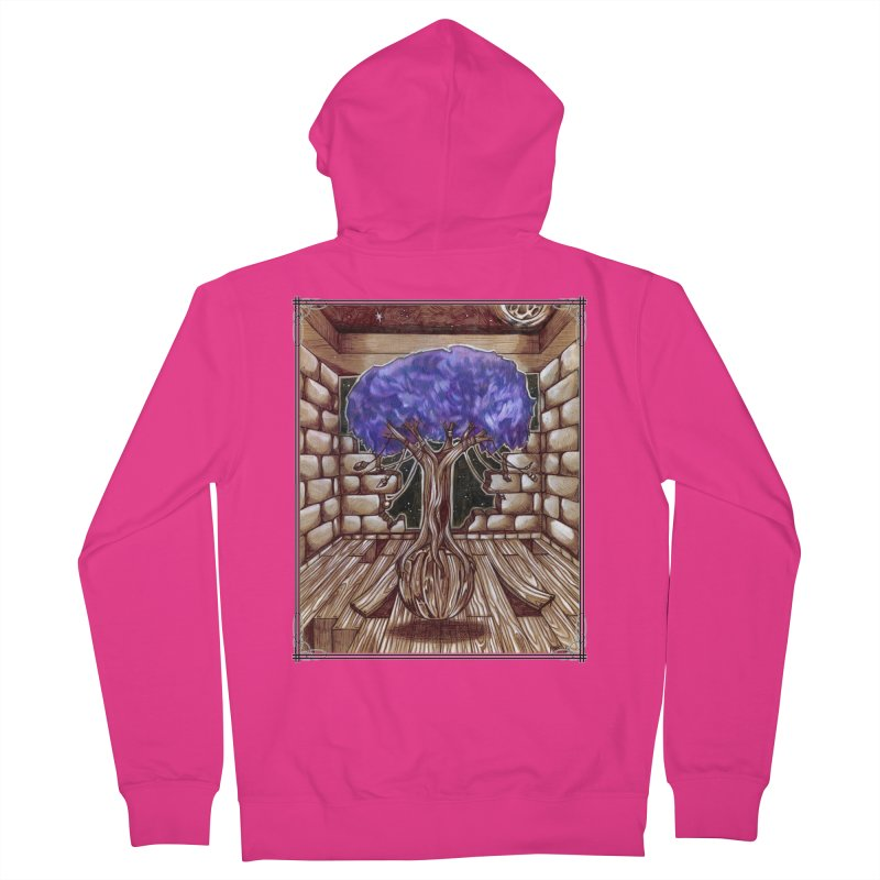 Purple Tree Men's French Terry Zip-Up Hoody by Ben Mirabelli