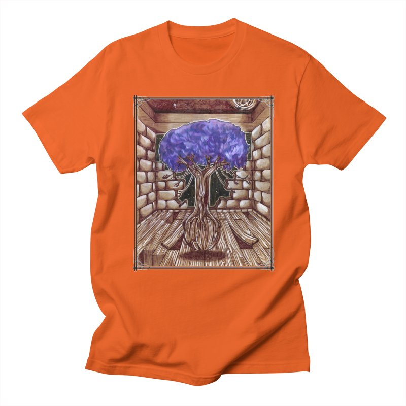 Purple Tree Men's Regular T-Shirt by Ben Mirabelli