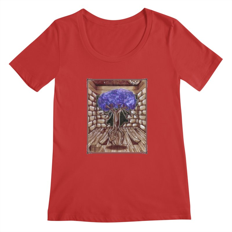 Purple Tree Women's Regular Scoop Neck by Ben Mirabelli