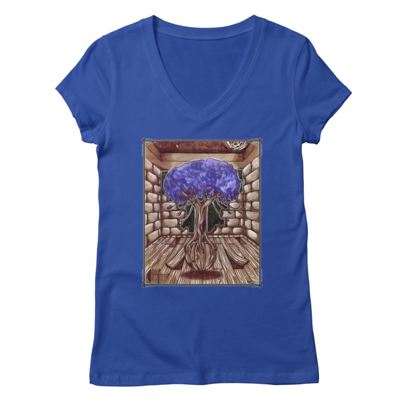 Purple Tree Women's Regular V-Neck by Ben Mirabelli