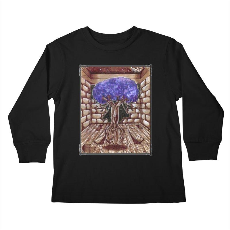 Purple Tree Kids Longsleeve T-Shirt by Ben Mirabelli