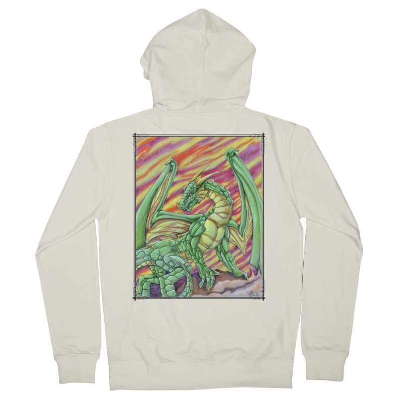 Yulth, The Emerald Apocalypse Men's French Terry Zip-Up Hoody by Ben Mirabelli