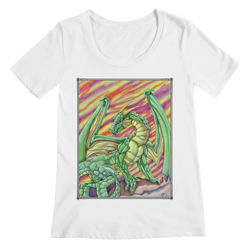 Yulth, The Emerald Apocalypse Women's Regular Scoop Neck by Ben Mirabelli