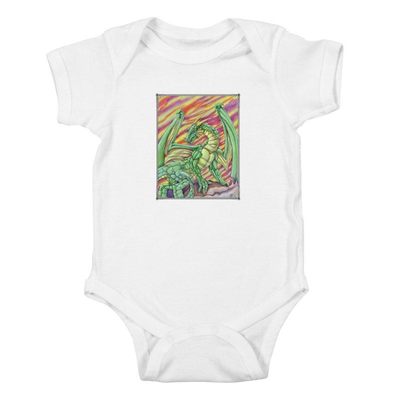 Yulth, The Emerald Apocalypse Kids Baby Bodysuit by Ben Mirabelli