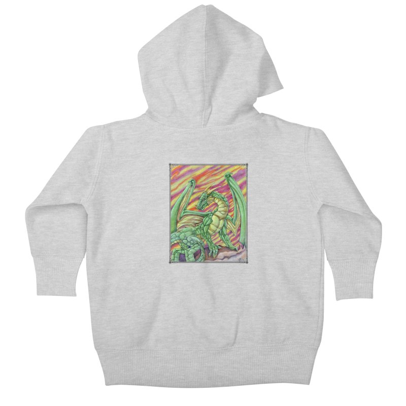 Yulth, The Emerald Apocalypse Kids Baby Zip-Up Hoody by Ben Mirabelli