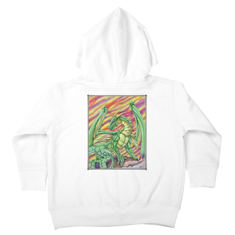 Yulth, The Emerald Apocalypse Kids Toddler Zip-Up Hoody by Ben Mirabelli