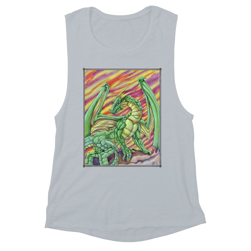 Yulth, The Emerald Apocalypse Women's Muscle Tank by Ben Mirabelli
