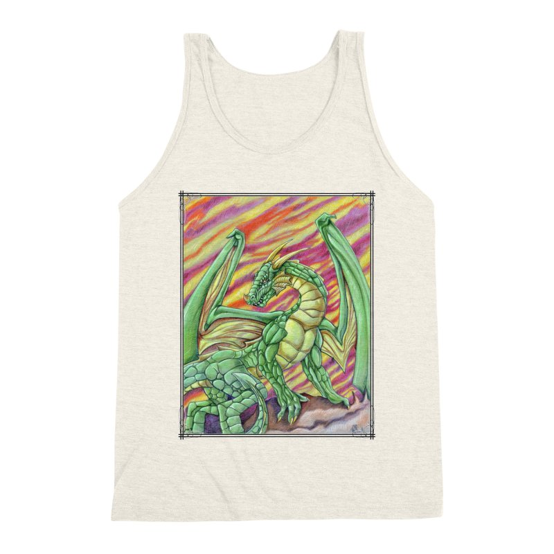 Yulth, The Emerald Apocalypse Men's Triblend Tank by Ben Mirabelli