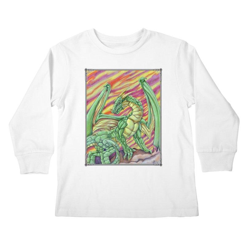 Yulth, The Emerald Apocalypse Kids Longsleeve T-Shirt by Ben Mirabelli