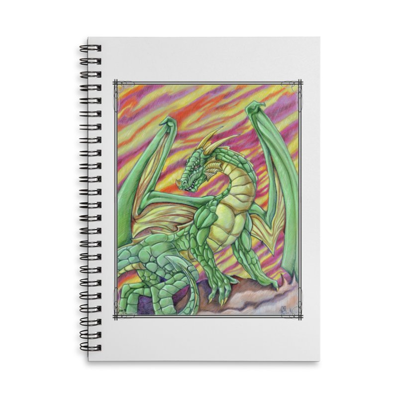 Yulth, The Emerald Apocalypse Accessories Lined Spiral Notebook by Ben Mirabelli