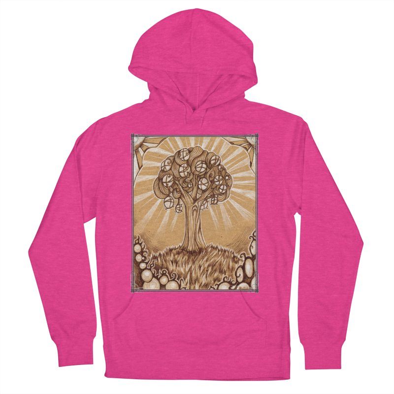 Tree of Life Men's French Terry Pullover Hoody by Ben Mirabelli