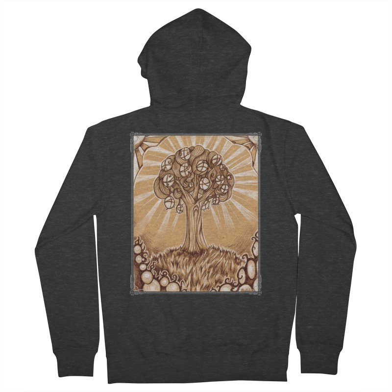 Tree of Life Men's French Terry Zip-Up Hoody by Ben Mirabelli