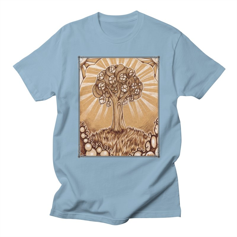 Tree of Life Men's Regular T-Shirt by Ben Mirabelli