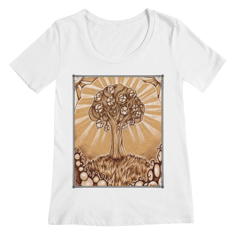 Tree of Life Women's Regular Scoop Neck by Ben Mirabelli