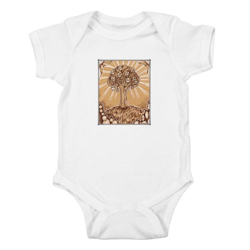Tree of Life Kids Baby Bodysuit by Ben Mirabelli