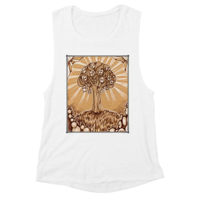 Tree of Life Women's Muscle Tank by Ben Mirabelli