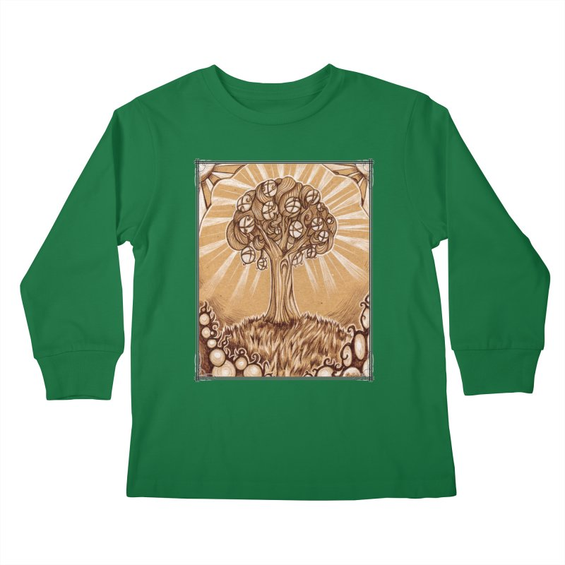 Tree of Life Kids Longsleeve T-Shirt by Ben Mirabelli