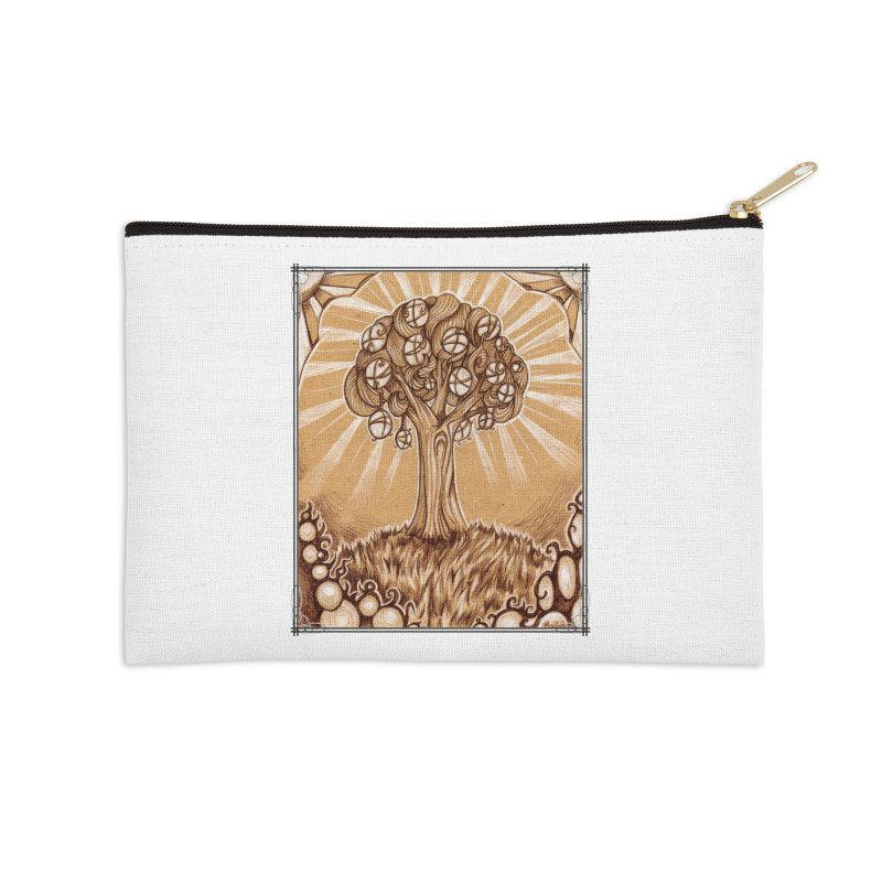 Tree of Life Accessories Zip Pouch by Ben Mirabelli