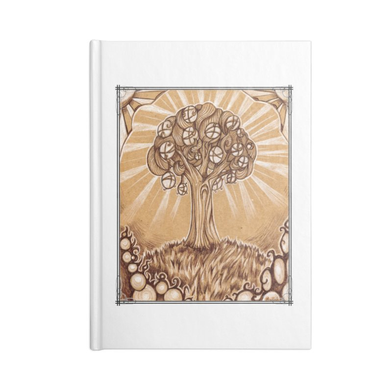 Tree of Life Accessories Blank Journal Notebook by Ben Mirabelli