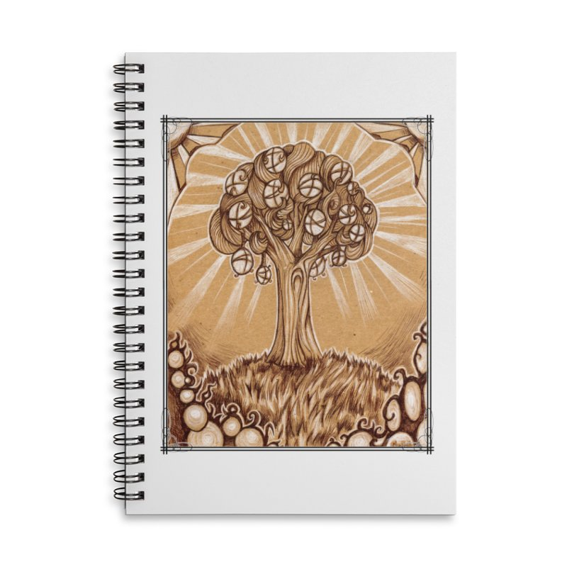 Tree of Life Accessories Lined Spiral Notebook by Ben Mirabelli