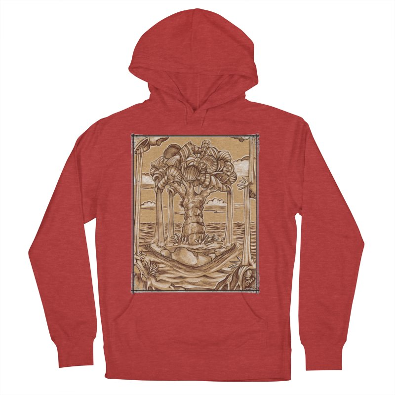 Water Tree Men's French Terry Pullover Hoody by Ben Mirabelli