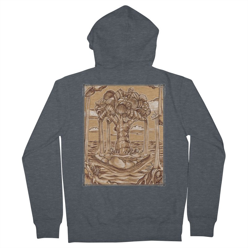 Water Tree Men's French Terry Zip-Up Hoody by Ben Mirabelli