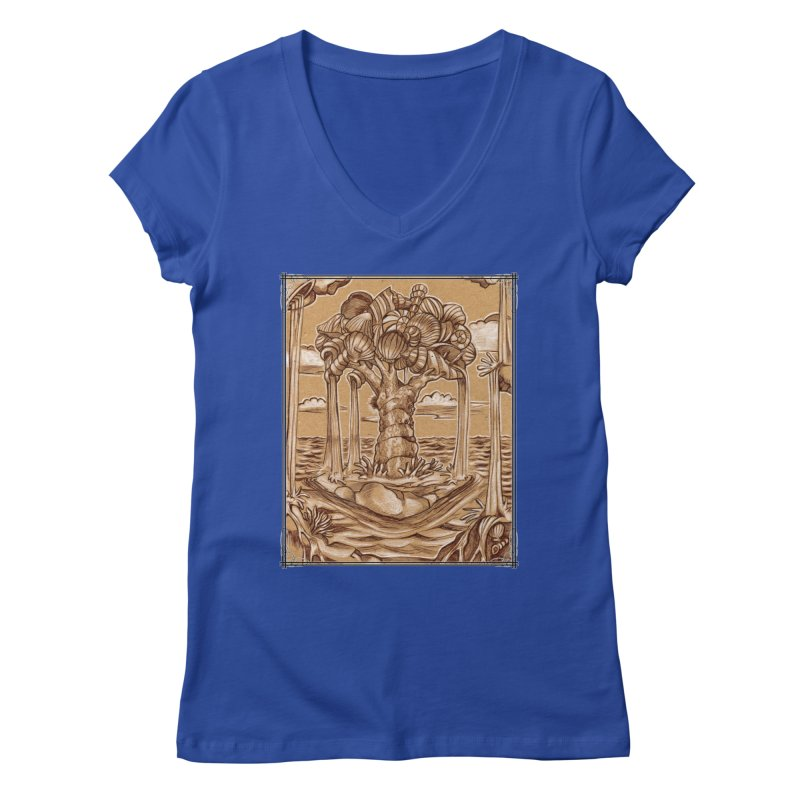 Water Tree Women's Regular V-Neck by Ben Mirabelli