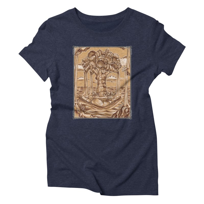 Water Tree Women's Triblend T-Shirt by Ben Mirabelli