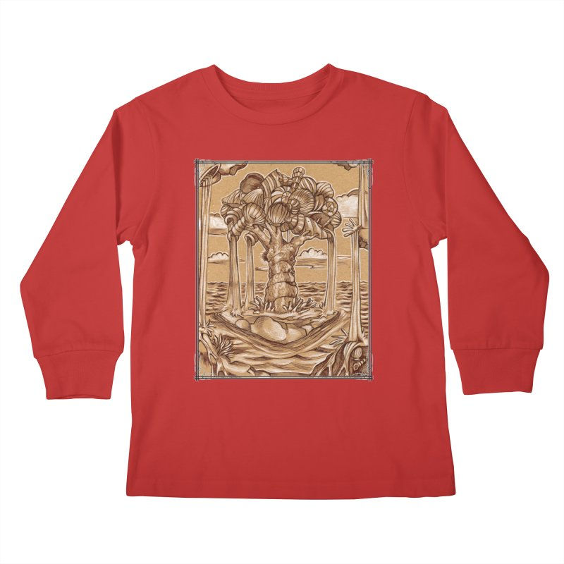 Water Tree Kids Longsleeve T-Shirt by Ben Mirabelli