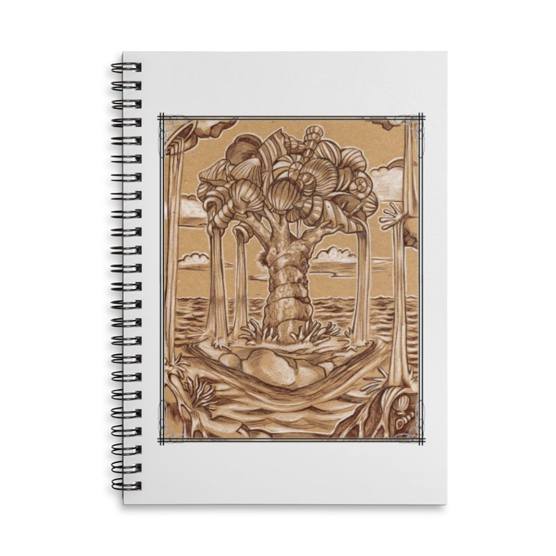 Water Tree Accessories Lined Spiral Notebook by Ben Mirabelli